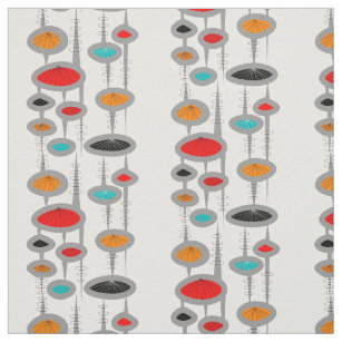 Mid Century Modern E Age Ovals Fabric