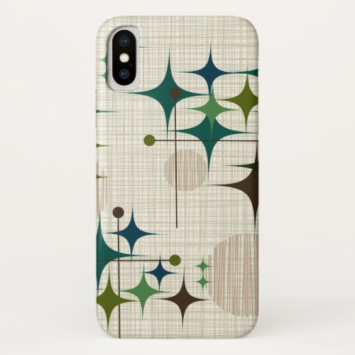 Mid Century Modern Starbursts and Globes Phone Case