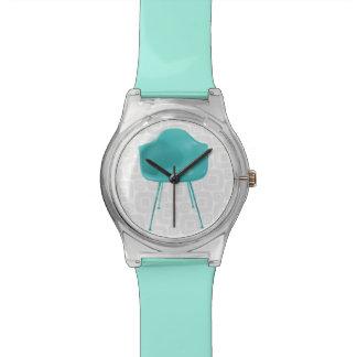 Mid Century Modern Teal Blue Chair Wrist Watch