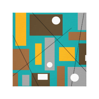 Mid Century Modern Wrapped Canvas Abstract Canvas Print