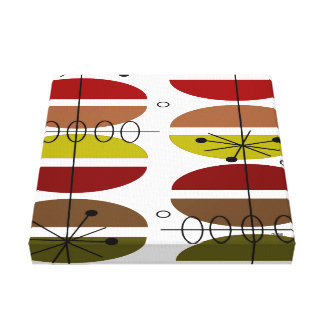 Mid Century Modern Wrapped Canvas Abstract #22 Canvas Print