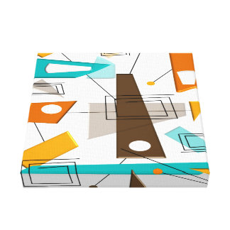 Mid Century Modern Wrapped Canvas Abstract #29 Canvas Print