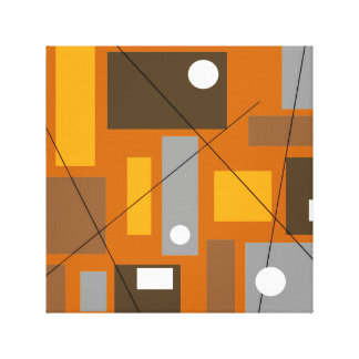 Mid Century Modern Wrapped Canvas Abstract #30