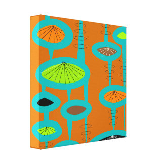 Mid Century Modern Wrapped Canvas Abstract #31 Canvas Print