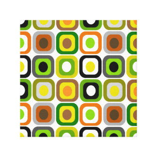 Mid-Century Modern Wrapped Canvas Abstract Squares