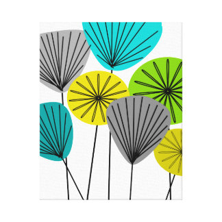 Mid Century Modern Wrapped Canvas Seed Pods 2 Canvas Print