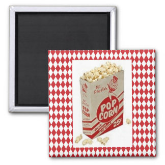 Mid-Century Retro 1950 Mr. Delish Popcorn Magnet