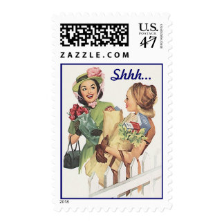 Mid-Century Retro Style Surprise Greeting Stamps