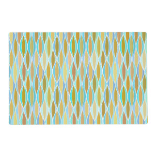 Mid-Century Ribbon Print - blues and neutrals Placemat