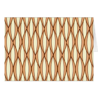 Mid-Century Ribbon Print - camel tan and cream Stationery Note Card