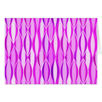 Mid-Century Ribbon Print - orchid and violet Stationery Note Card