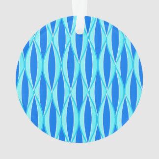 Mid-Century Ribbon Print - shades of blue