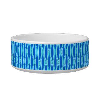 Mid-Century Ribbon Print - shades of blue Bowl