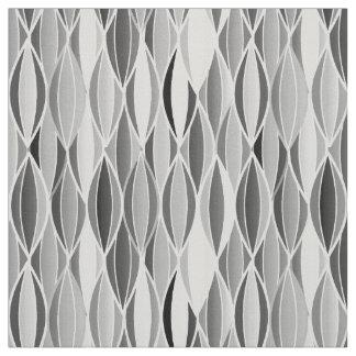 Mid-Century Ribbon Print - shades of grey / gray Fabric