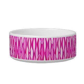 Mid-Century Ribbon Print - shades of magenta pink Bowl