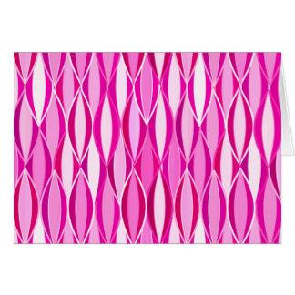 Mid-Century Ribbon Print - shades of magenta pink Stationery Note Card