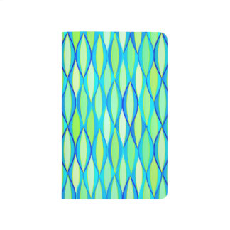 Mid-Century Ribbon Print - turquoise and lime Journal