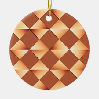 Mid-Century Satin Diamonds - copper and brown Christmas Ornaments