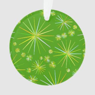 Mid Century Sputnik pattern, Olive Green Ornament