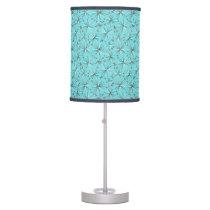 Mid Century Sputnik pattern, Robin's Egg Blue Table Lamp
