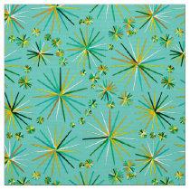 Mid Century Sputnik pattern, sea foam green Fabric