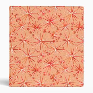 Mid Century Sputnik pattern, Shades of Coral Binder