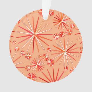 Mid Century Sputnik pattern, Shades of Coral Ornament