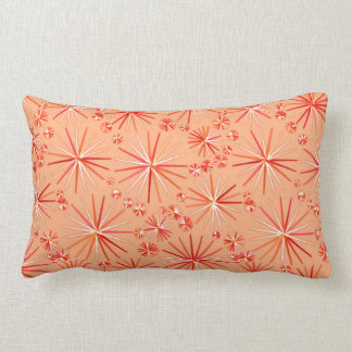 Mid Century Sputnik pattern, Shades of Coral Throw Pillow