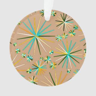 Mid Century Sputnik pattern, Taupe Tan Ornament