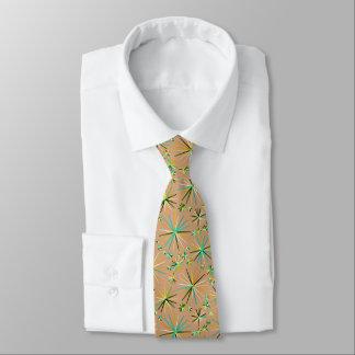 Mid Century Sputnik pattern, Taupe Tan Tie