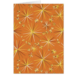 Mid Century Sputnik pattern, Terracotta Stationery Note Card
