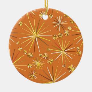 Mid Century Sputnik pattern, Terracotta Ceramic Ornament