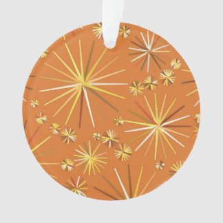 Mid Century Sputnik pattern, Terracotta Ornament