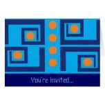 Mid-Century Style Invitation Card