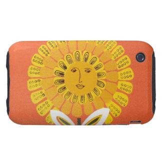 Mid-century Sun Graphic Tough iPhone 3 Cover