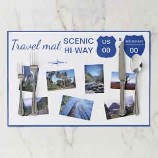Mid-century Travel Mat Retro Scenic Pictures