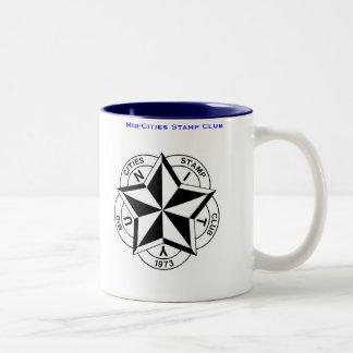 Mid-Cities Stamp Club Logo Two-Tone Coffee Mug