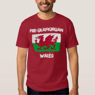 Mid Glamorgan, Wales with Welsh flag Shirt