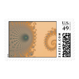 Mid Gold Spirole Postage Stamp