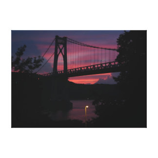 Mid-Hudson Bridge Sunset Canvas Print