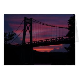 Mid-Hudson Bridge Sunset Greeting Cards
