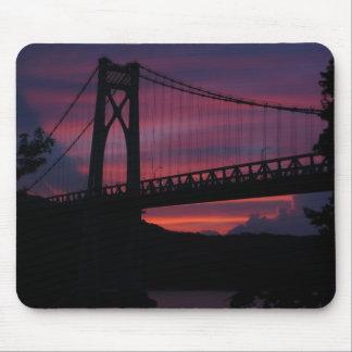 Mid-Hudson Bridge Sunset Mouse Pad