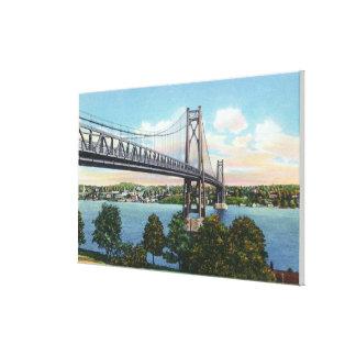 Mid-Hudson Bridge to Roosevelt Nat'l Historic Canvas Print