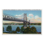 Mid-Hudson Bridge to Roosevelt Nat'l Historic Poster