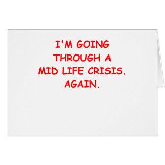 mid life crisis card