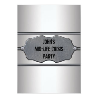 Mid Life Crisis Mans 40th Birthday Party Card