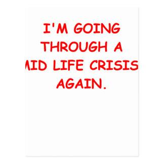 mid life crisis postcard