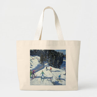 Mid-morning on the Piste 2004 Large Tote Bag
