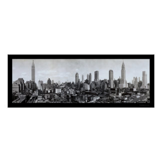 Mid-New York skyline Photo 1931 Poster
