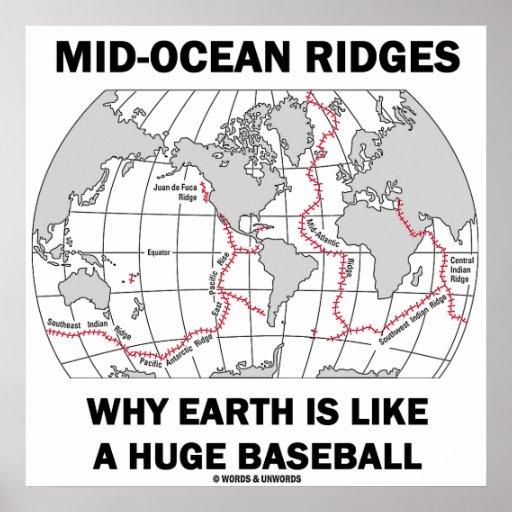 Mid-Ocean Ridges Why Earth Is Like A Huge Baseball Posters